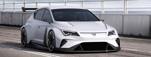 Cupra e-Racer is 100% electric touring car. Image by SEAT.