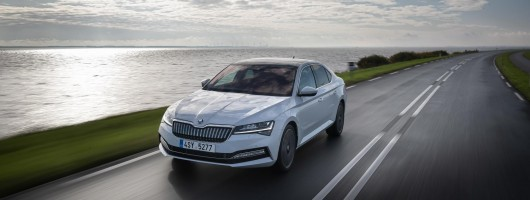 First drive: Skoda Superb iV. Image by Skoda.