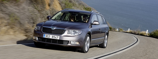 First drive: Skoda Superb Estate. Image by Skoda.