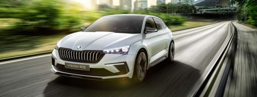 Skoda previews upmarket Rapid with Vision RS. Image by Skoda.