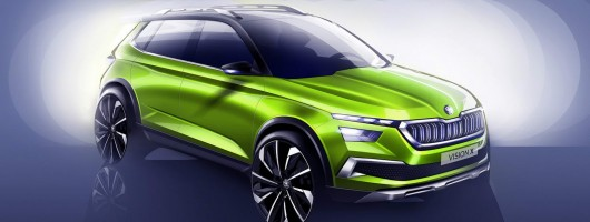 Skoda's small crossover previewed by Vision X. Image by Skoda.