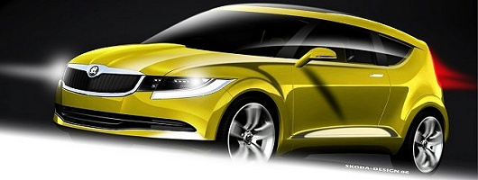 Skoda shows another stylish concept car. Image by Skoda.