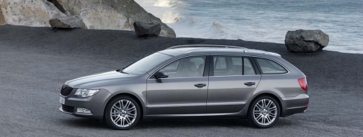 Frankfurt Motor Show: Skoda Superb Estate. Image by Skoda.