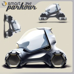 2011 Smart 341 Parkour concept. Image by smart.