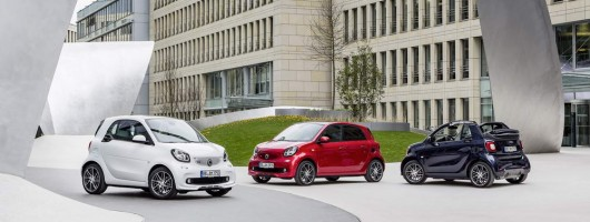 Smart line-up gets the Brabus treatment. Image by Smart.