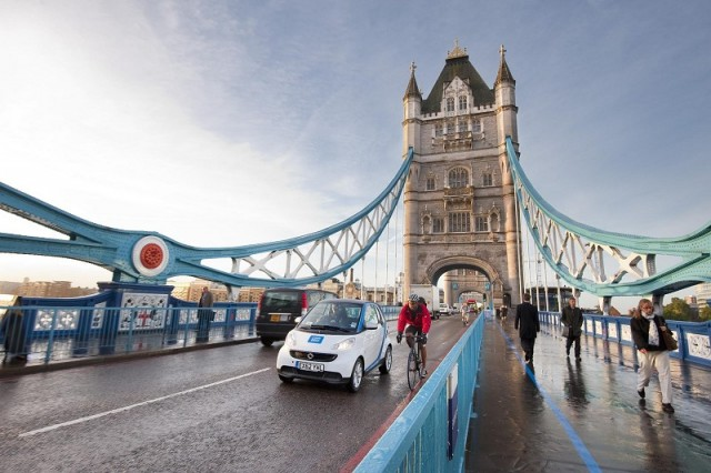 Car2Go withdraws from UK. Image by Smart.
