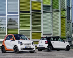 Incoming: Smart Forfour and Fortwo. Image by Smart.