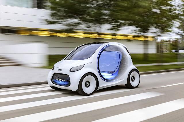 Smart's future has no steering wheel. Image by Smart.