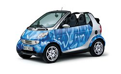 2003 Smart Cabrio - this is the Numeric Blue pattern we had to endure for the week. Photograph by Smart. Click here for a larger image.