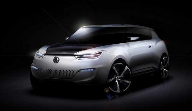 SsangYong unveils electric concept. Image by SsangYong.