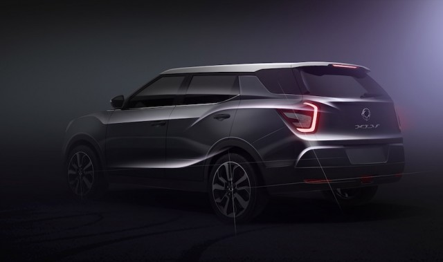 SsangYong lengthens Tivoli for XLV. Image by SsangYong.