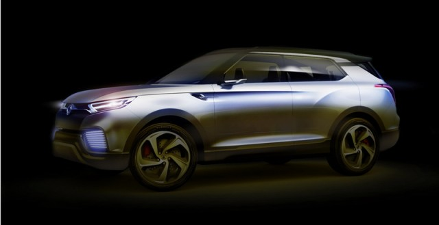 SsangYong XLV Concept headed to Geneva. Image by SsangYong.