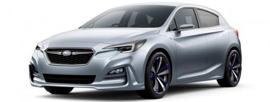 Next-gen Impreza shown by Subaru. Image by Subaru.