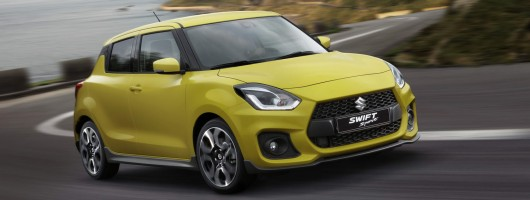 New Suzuki Swift Sport details announced. Image by Suzuki.
