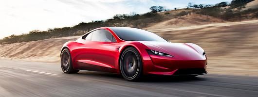 Tesla Roadster sets new EV benchmark. Image by Tesla.