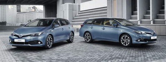 Toyota Auris gets a facelift in time for Geneva. Image by Toyota.