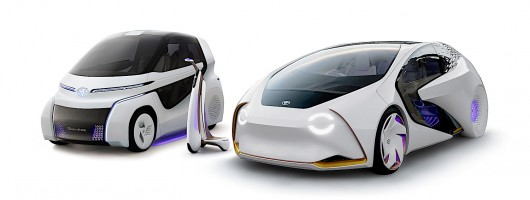 Toyota shows ideas for three-step urban transport in Tokyo. Image by Toyota.
