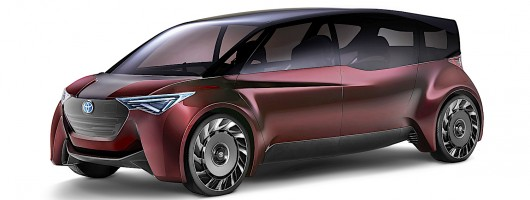 Toyota hydrogen luxury concept is designed inside-out. Image by Toyota.