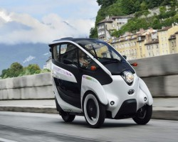 Bonkers Toyota i-Road. Image by Toyota.