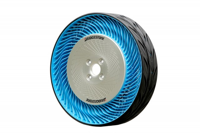 Bridgestone reveals air-free tyre. Image by Bridgestone.