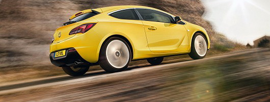 Incoming: Vauxhall Astra GTC. Image by Vauxhall.