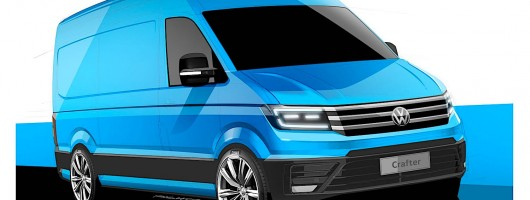 New-look Volkswagen Crafter previewed. Image by Volkswagen.