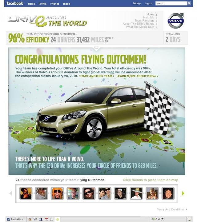 Volvo DRIVe round the world challenge. Image by Volvo.