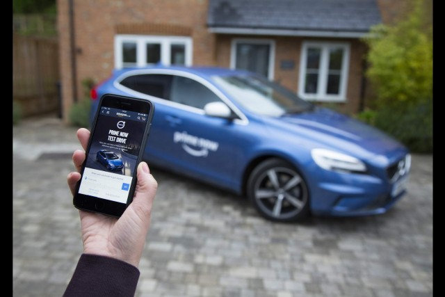 Volvo brings test-driving to your door. Image by Volvo.