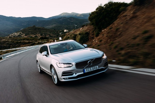 First drive: Volvo V90 D5 AWD. Image by Malcolm Griffiths.