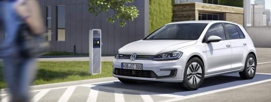 Updated e-Golf gets longer range. Image by Volkswagen.