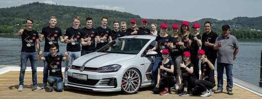 VW apprentices create special Golfs. Image by Volkswagen.