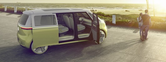 All-electric retro Microbus revealed in Detroit. Image by Volkswagen.