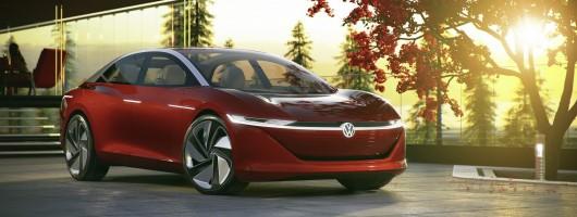 Volkswagen unveils fourth ID model, the Vizzion. Image by Volkswagen.