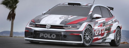 Volkswagen Polo GTI R5 rally car revealed. Image by Volkswagen.