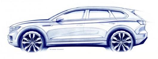 Volkswagen previews Touareg Mk3. Image by Volkswagen.